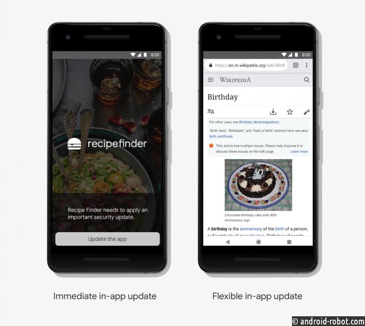 Приложения под андроид смогут обновляться прямо вовремя работы