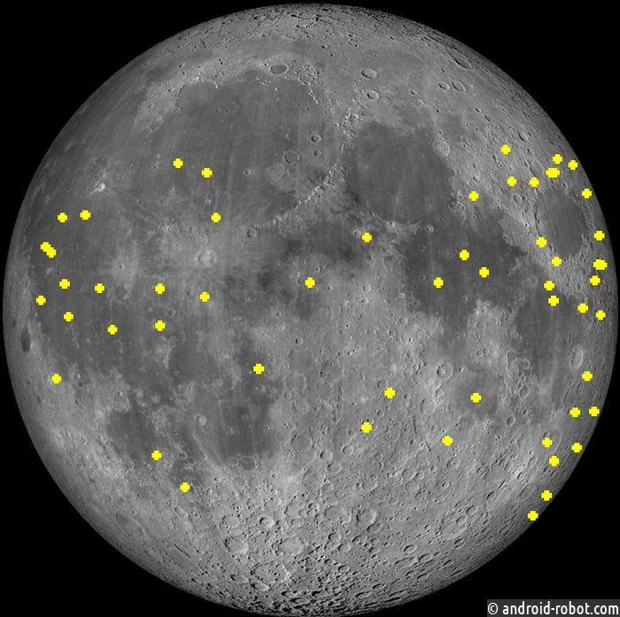 Каждые несколько часов на Луне наблюдаются вспышки света
