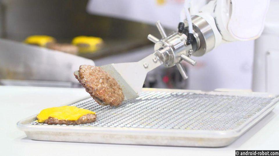 Walmart тестирует робота Flippy - помощника на кухне
