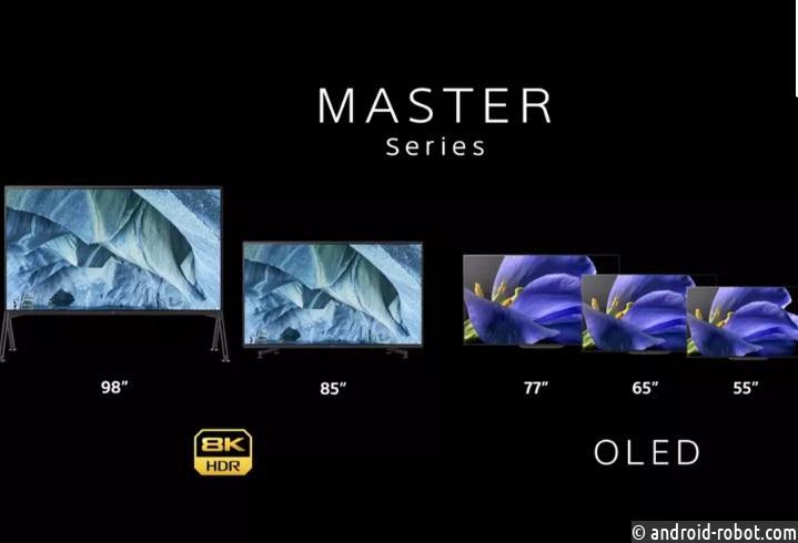 Sony анонсирует гигантские телевизоры 8K и 4K на выставке CES 2019