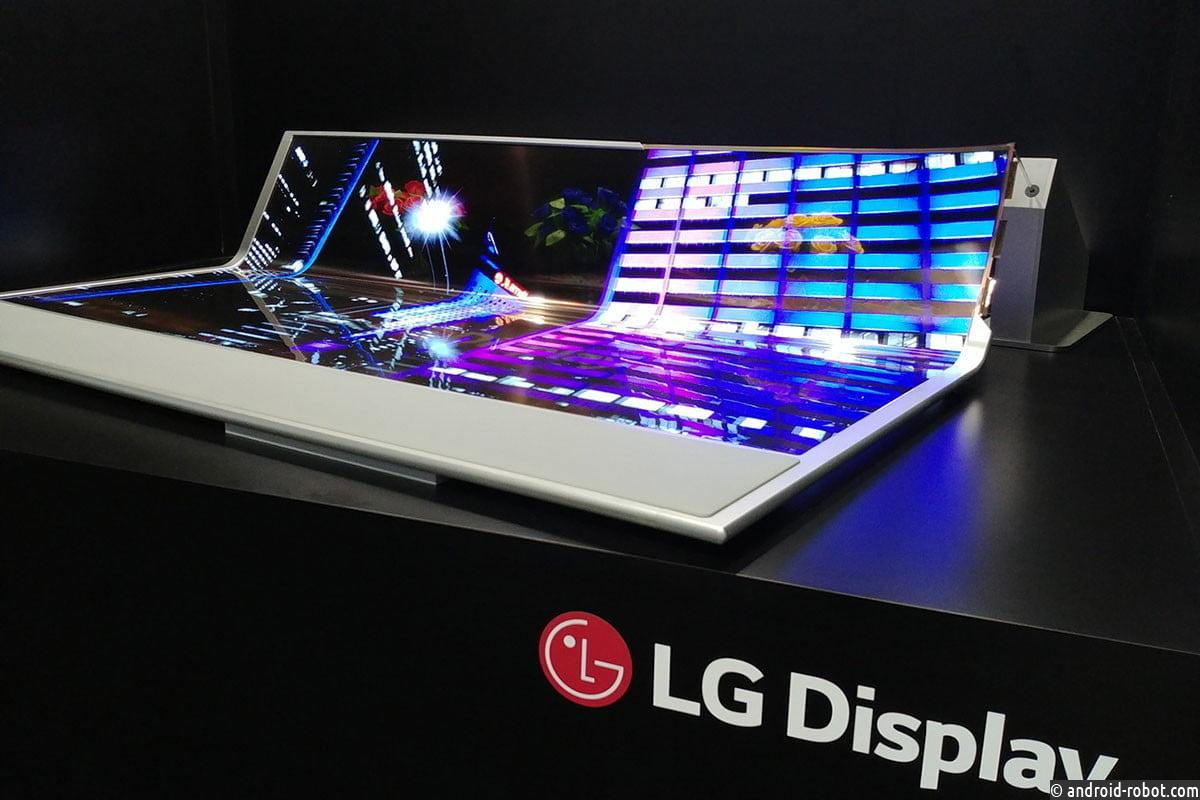 LG представила прозрачный, складывающийся телевизор OLED