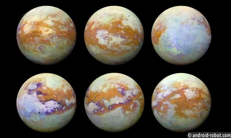 Зонд Кассини показал спутник Сатурна - Титан