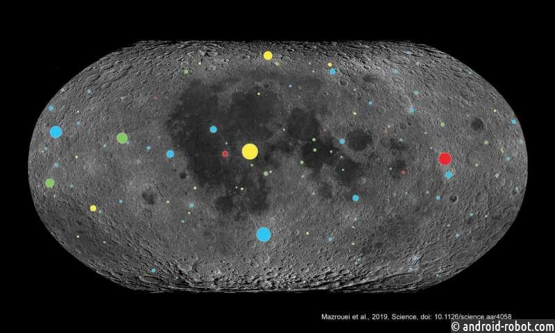 Изучается влияние астероидов на Землю, посредством изучения Луны