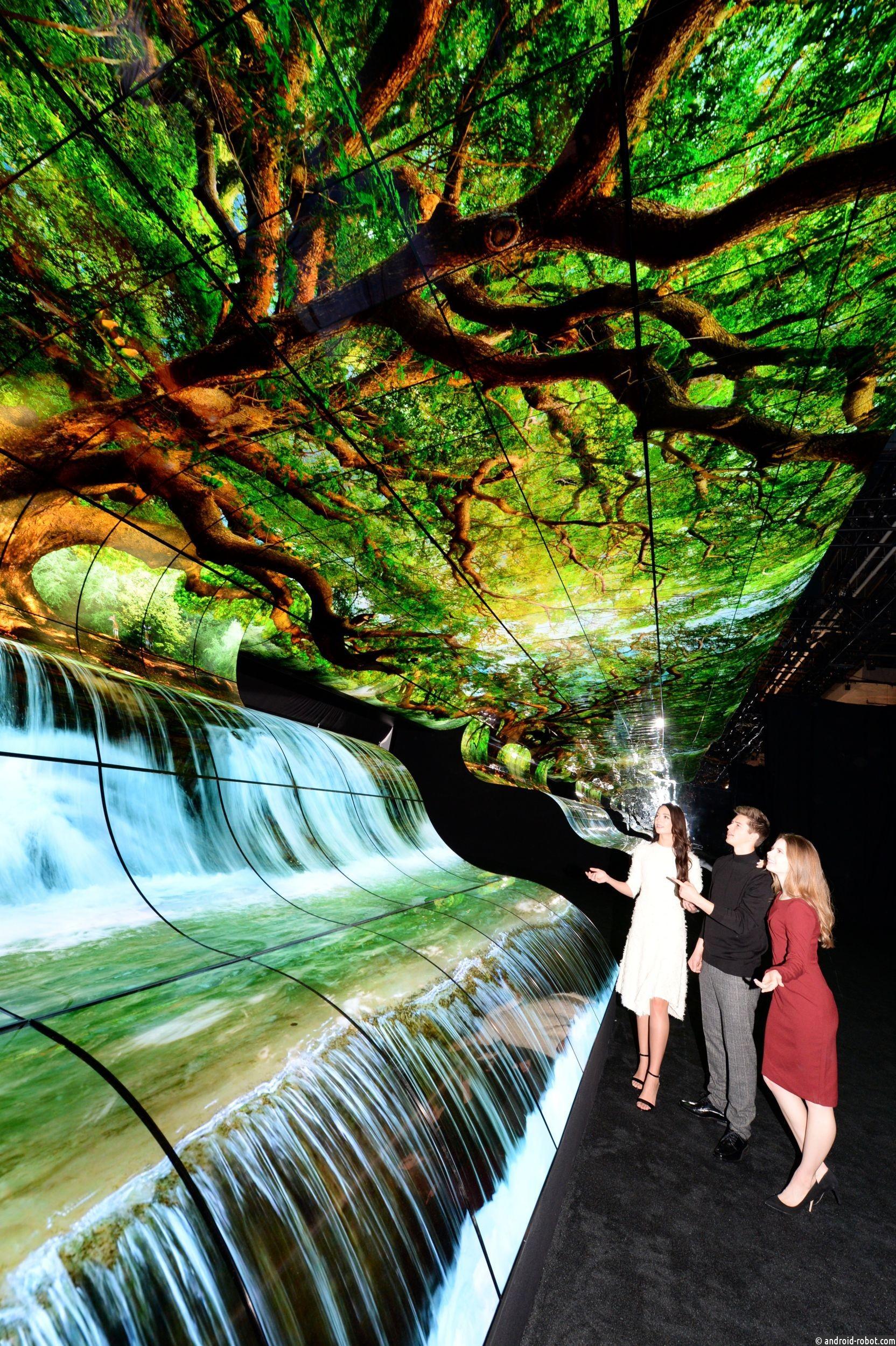 Уникальная иммерсивная инсталляция поразила посетителей стенда LG на CES 2019