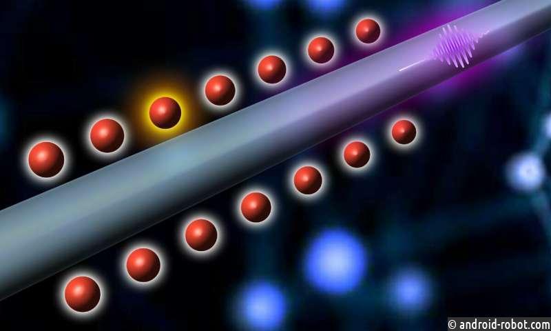 Когда холодные атомы встречают нано: проводной квантовый узел