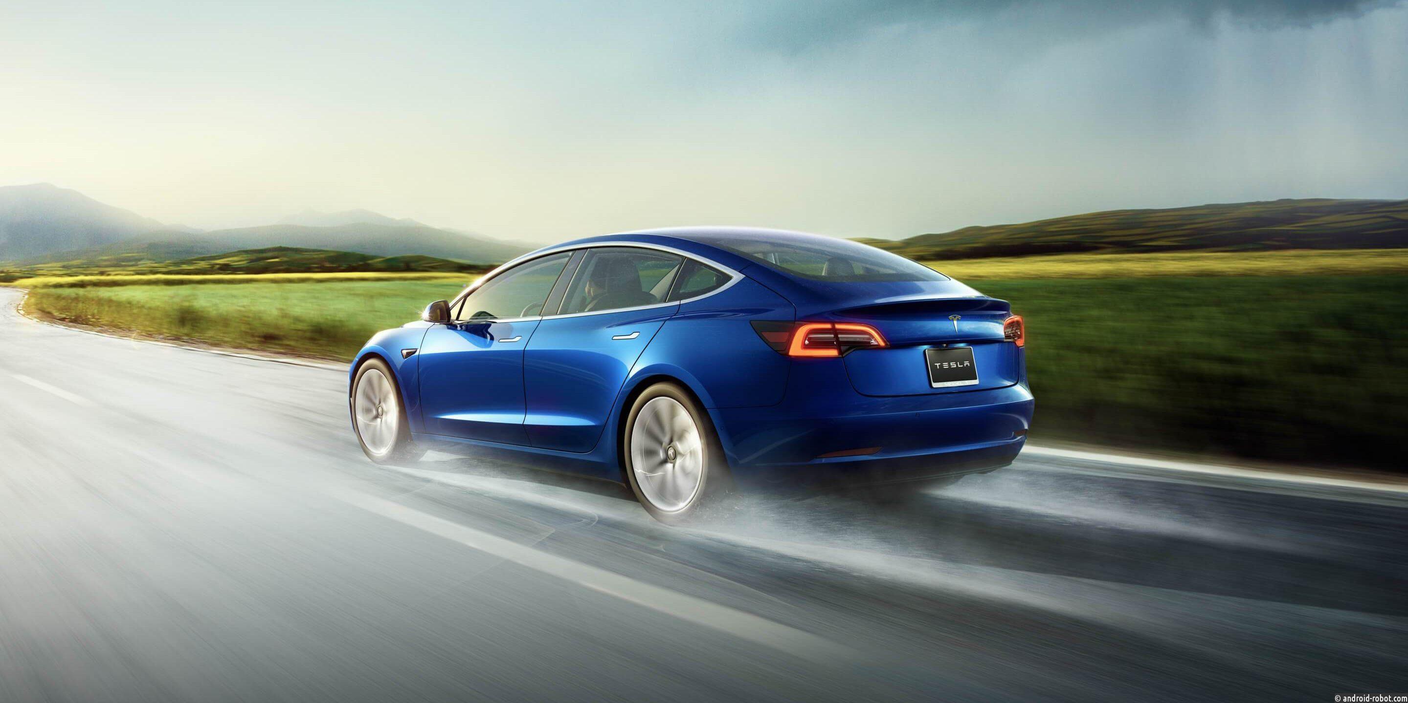 Тесла снижает цену на электромобиль Tesla Model 3