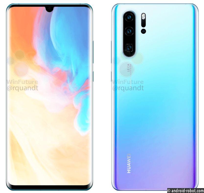Утечка раскрыла спецификации Huawei P30 иP30 Pro