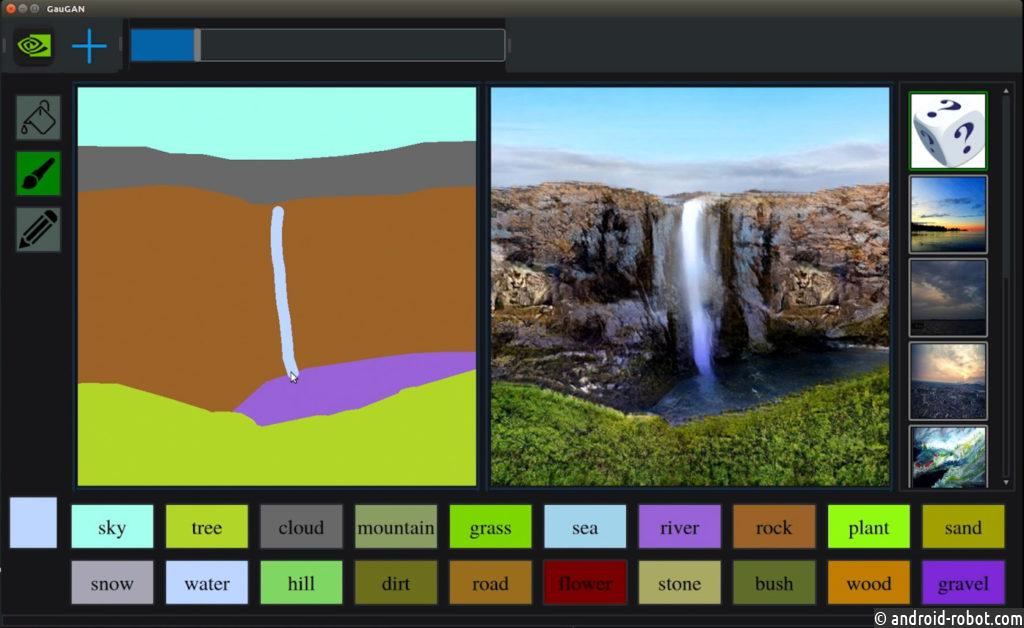 Nvidia AI превращает эскизы в фотореалистичные пейзажи за считанные секунды