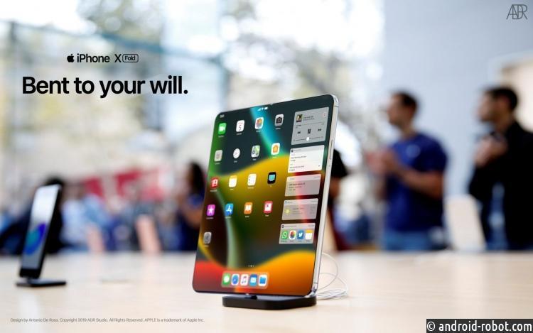 Гибкий iPhone XFold показали вновом видео