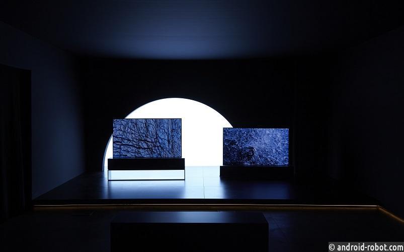 LG продемонстрировала впечатляющую инсталляцию сворачивающегося OLED телевизора