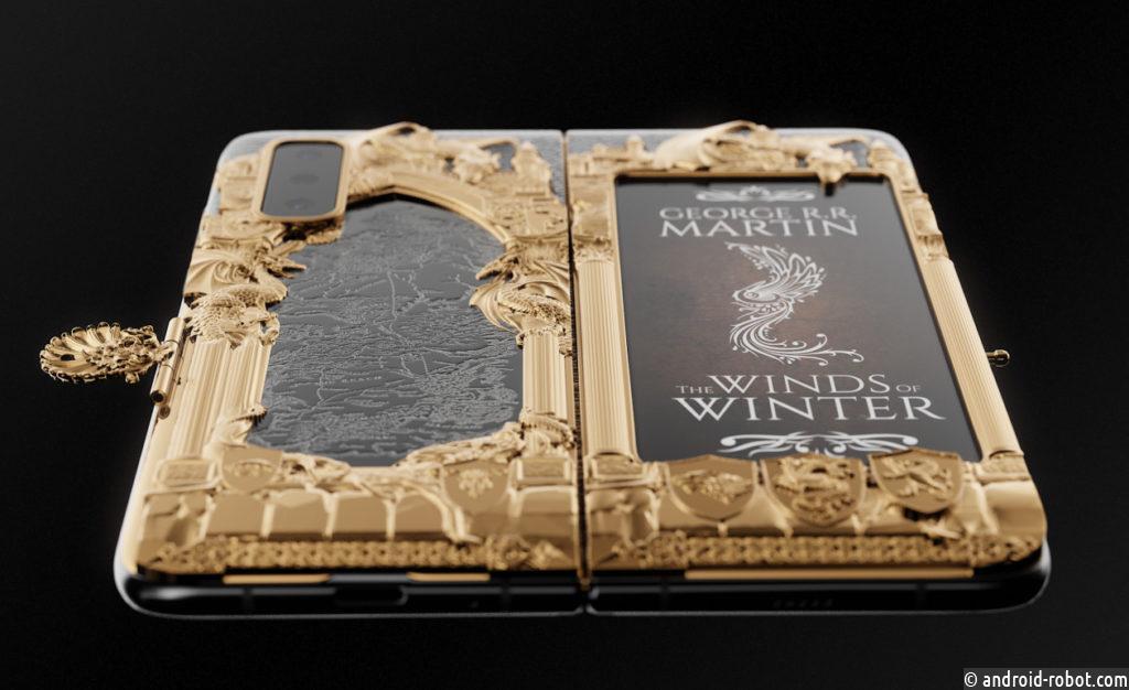 Гибкий Samsung Fold превратили в золотую книгу «Игра Престолов»