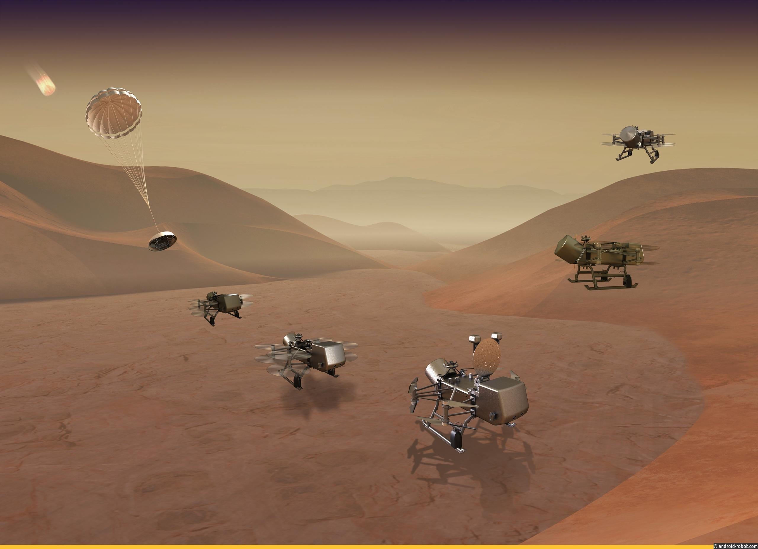 NASA отправит аппарат Dragonfly для поиска жизни наспутнике Сатурна