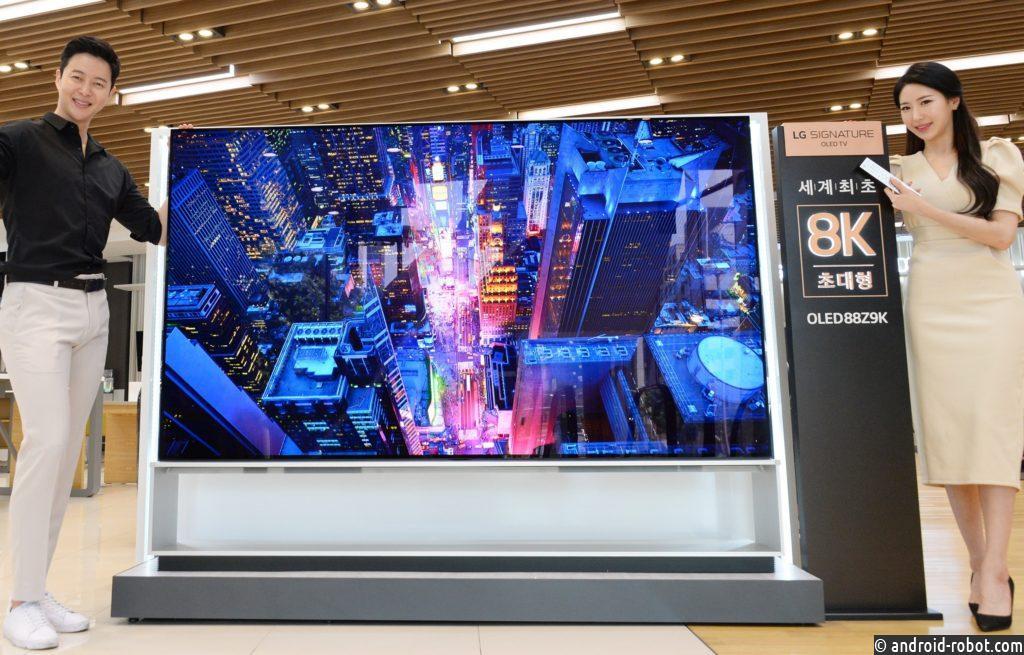 LG объявляет о глобальном запуске продаж первого в мире OLED-телевизора с разрешением 8K