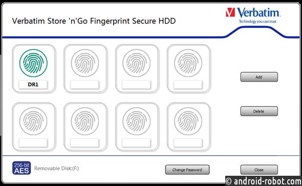 Компания Verbatim выпускает жесткий диск Fingerprint Secure с 256-битным шифрованием