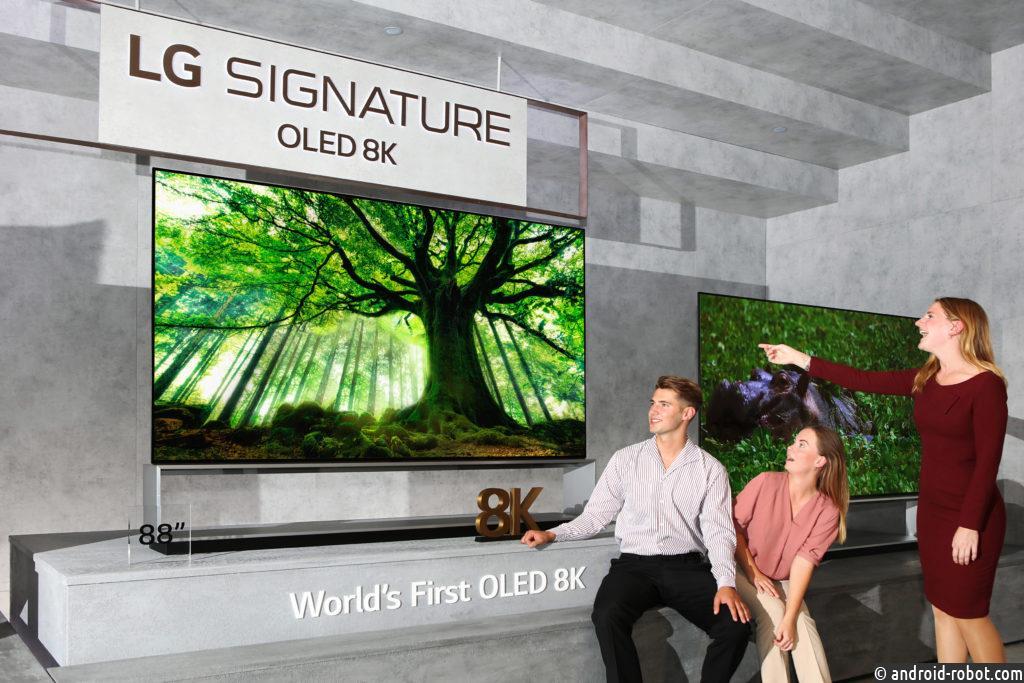 Телевизоры LG 8K OLED и NanoCell выходят на мировые рынки