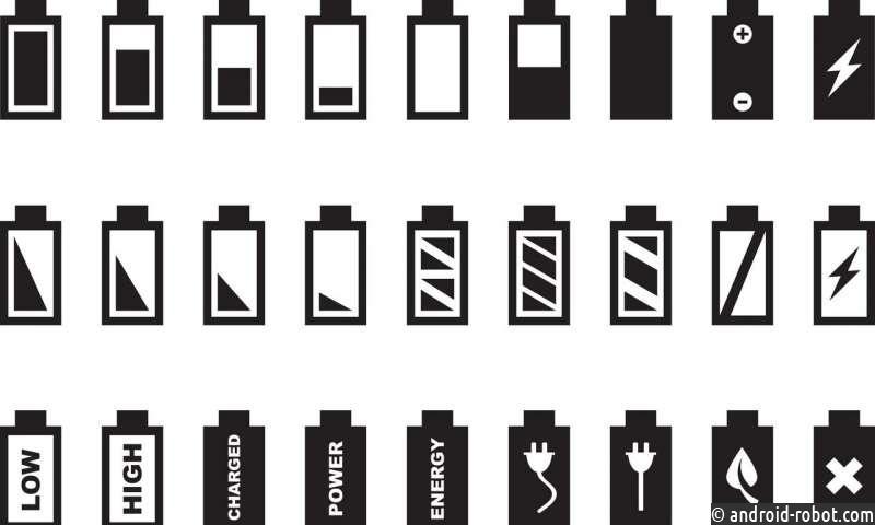 Иконки батареи формируют восприятие времени и пространства и определяют личность пользователя