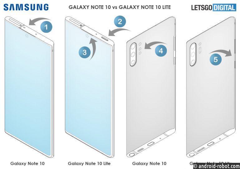 Samsung разрабатывает третью модель Note 10, облегченную версию