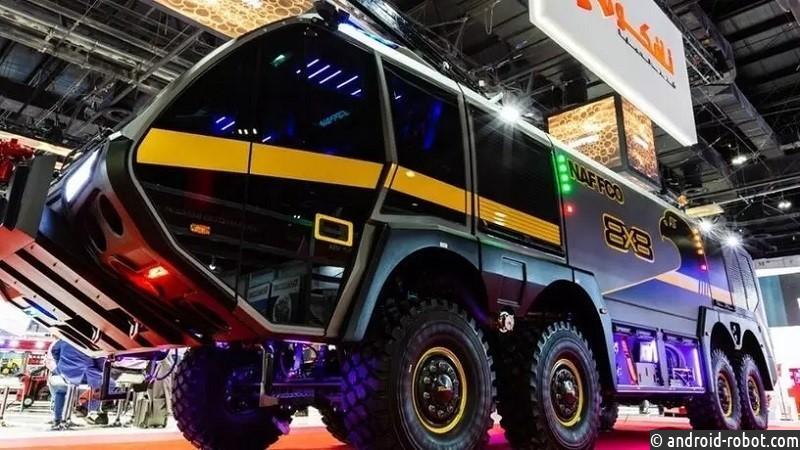 Пожарная машина в стиле хай-тек от Naffco