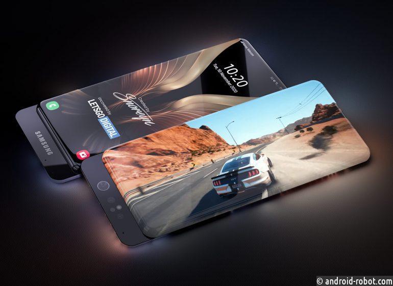 Samsung работает над смартфоном с прозрачным корпусом, который на 100% состоит из поверхности экрана