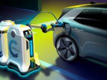 VW представила автономного робота для зарядки электромобилей