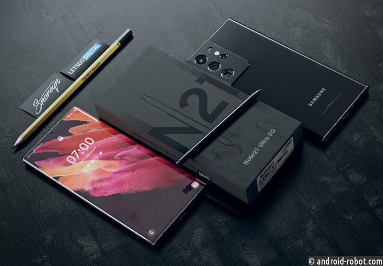 Смартфон Samsung Galaxy Note 21 Ultra 5G ожидается во второй половине 2021