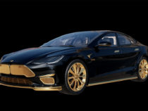 Российские дизайнеры создали люксовый концепт Tesla Model S из золота