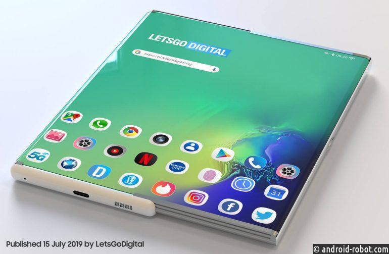 Samsung готовится к выпуску складного смартфона  Samsung Galaxy Z Roll