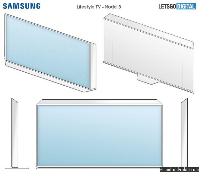 Samsung патентует две новые модели телевизоров для повседневного использования