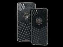 Ко Дню России создали люксовую коллекцию iPhone с Российским Орлом из золота и титана с механическими часами на корпусе