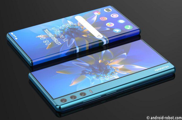 Huawei разрабатывает складной смартфон с большим выдвижным дисплеем